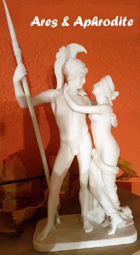 Ares und Aphrodite hatten eine leidenschaftliche und andauernde heiße Affäre
