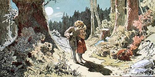 Hänsel und Gretel finden den Weg nach Hause
