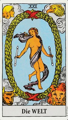 """Die Tarotkarte """"Die Welt"""""""